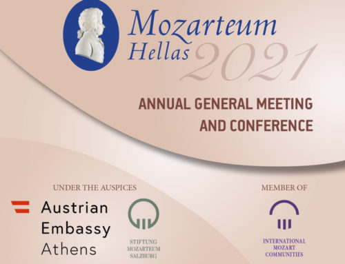 "Mozarteum Hellas, Member of The Salzburg Mozarteum Foundation, in the framework of its Annual Conference, presented for the first time in Greece,  the newly found Mozart's musical masterpiece ""94 Seconds"""